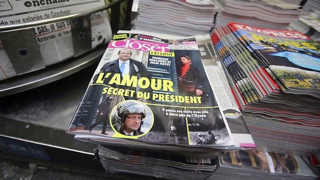 """""""האהבה הסודית של הנשיא"""". שער העיתון """"קלוסר"""" היום (צילום: AP)"""
