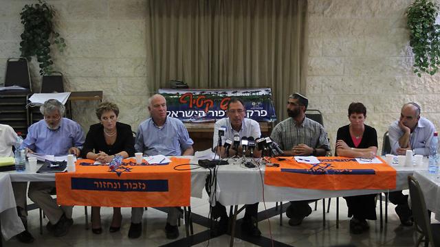 The Gush Katif Settlers' Committee (Photo: Gil Yohanan)