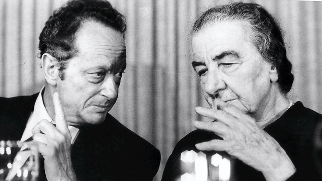 Golda Meir, a representative of the old Zionist generation, and Yigal Allon, a representative of the Sabra (Photo: Shalom Bar Tal)  (Photo: Shalom Bar Tal)