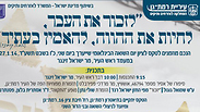 Poster for Ramat Gan remembrance event