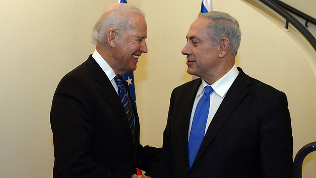 US Vice President Joe Biden with Prime Minister Benjamin Netanyahu (Archive Photo: Haim Tzach/GPO)