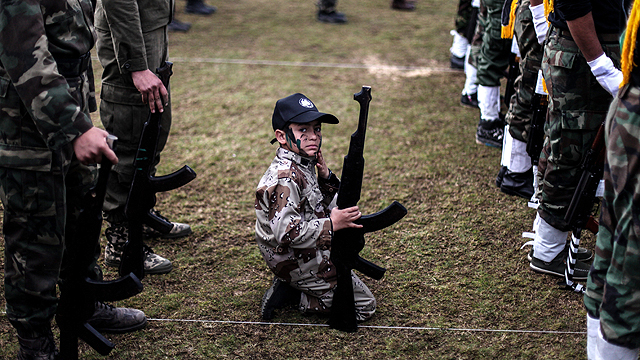 Youth in Hamas training camp. Gaza