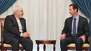Zarif and Bashar Assad Photo: EPA