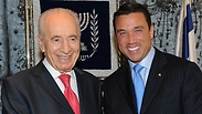 Michael Grimm and Shimon Peres
