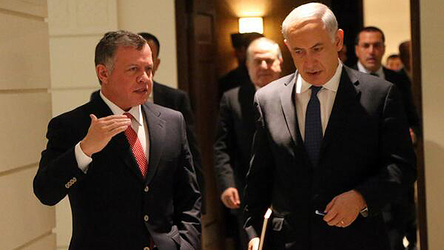 Benjamin Netanyahu during meeting with Jordanian King Abdulla, Thursday