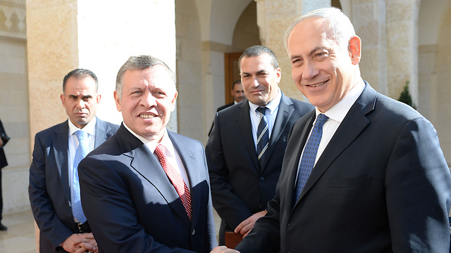 Abdullah and Netanyahu in Jordan on Thursday (Photo: Kobi Gideon, GPO)