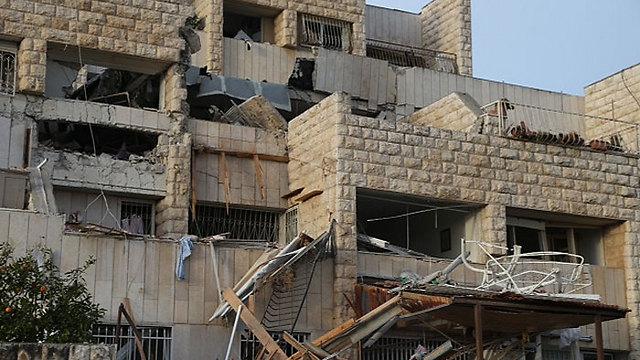 The damaged building (Photo: Motti Kimchi)