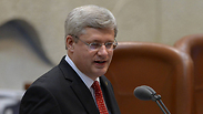 Canadian Prime Minister Stephen Harper in Knesset Photo: Amos Ben Gershom, GPO