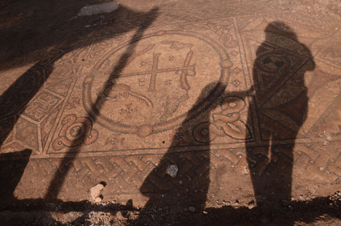 The Byzantine mosaic (Photo: IAA)