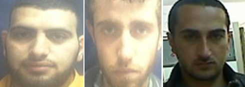 Al-Qaeda operatives: (R) Abu Najma, Aanam and Abu Sarah