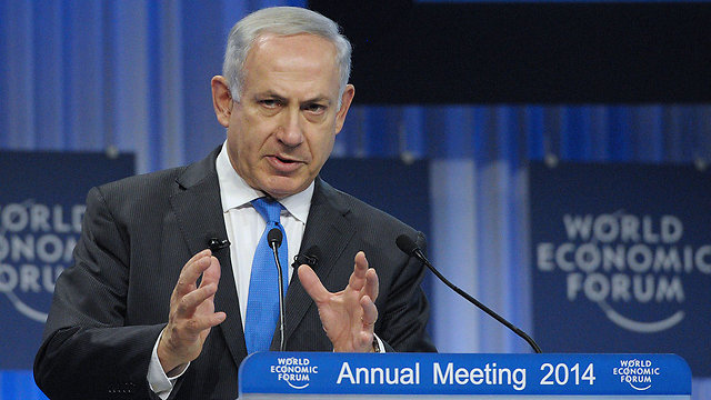 PM at Davos: In order to make peace in the world, it takes two to tango, and the Middle East needs at least three (Photo: AFP)