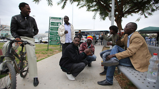 Asylum seekers gathering in Tel Aviv (Yaron Brener) (Photo: Yaron Brener)