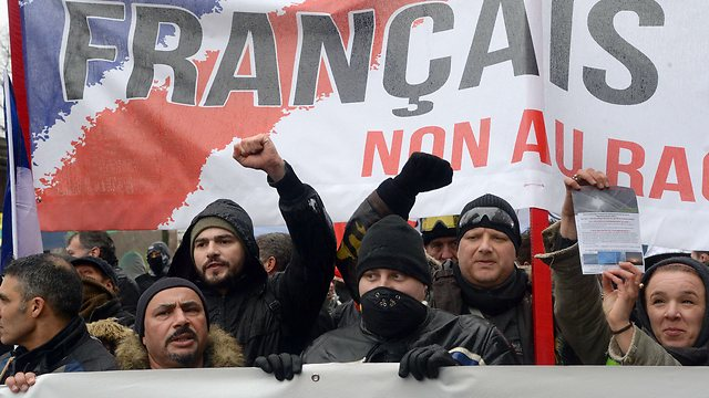 The protest against Hollande (Photo:AFP)