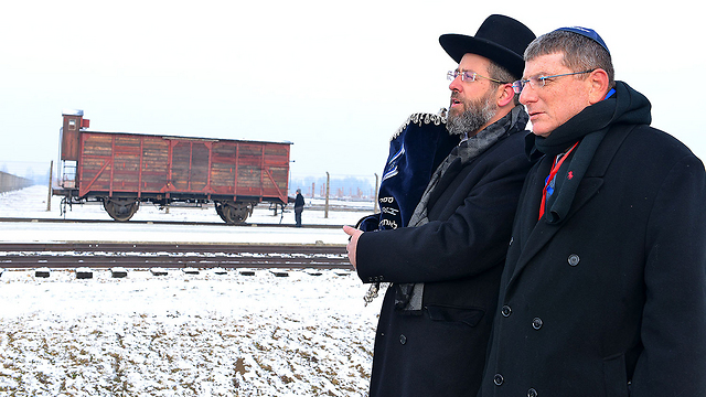 MKs in Poland (Photo: Israel Bardugo)