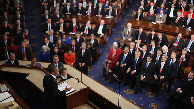 Obama at the State of the Union address. (Photo: AFP)