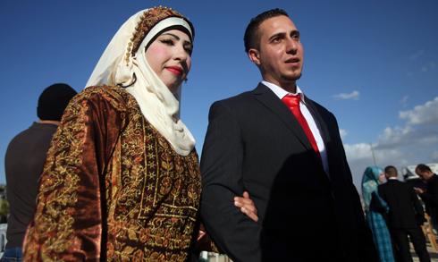 Mass weddings - Hamas' thing (Photo: AFP)