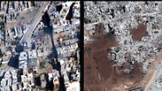 Before and after: Demolished buildings in Damascus Photo: AP