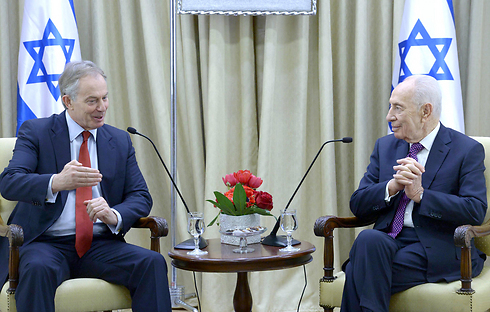 President Peres and former Prime Minister Tony Blair (Photo: Mark Neiman, GPO)