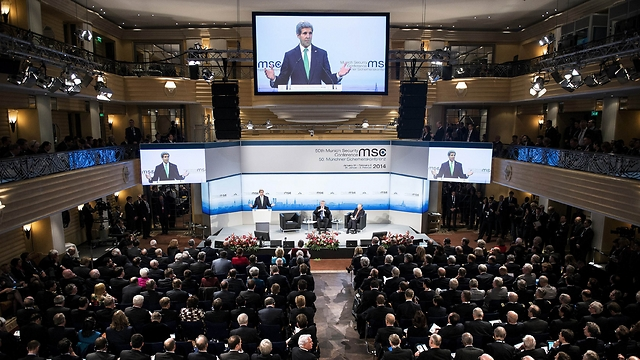 Secretary Kerry in Munich (Photo: Reuters)