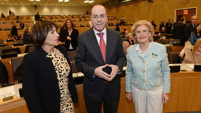 "Minister Shalom at the ""Justice for Jews from Arab Countries"" UN conference  (Photo: Shahar Azran) (Photo: Shahar Azran)"