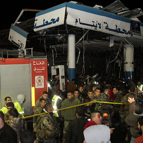 The gas station in Hermel (Photo: AFP)