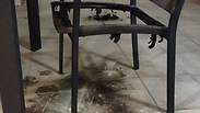 Damage to chair in balcony Photo: Gali Shimoni