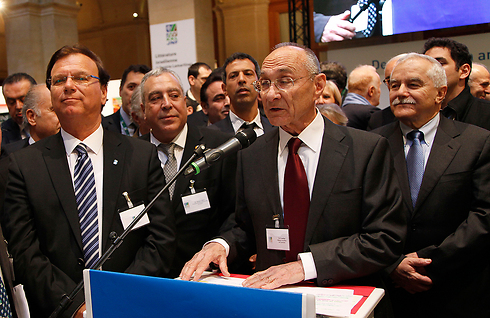 Shamir, Landau and Stenzler at conference (Photo: Jewish National Fund) Photo: Jewish National Fund