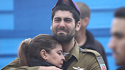 Soldiers grieving at Nachman's funeral Photo: Avi Moalem