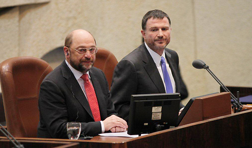 Schulz and Edelstein (Photo: Courtesy of the Knesset) (Photo: Couresy of the Knesset)