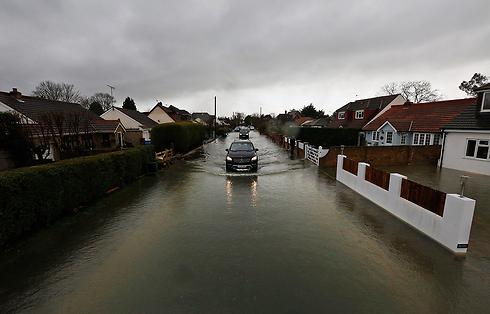 אלפי בתים הוצפו. רייסבארי (צילום: AP)