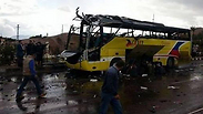 Image of tourist bus hit in Sinai explosion