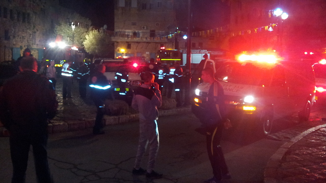 Scene of the explosion (Photo: Ido Beker)