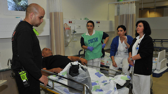 Nahariya Hospital treats the wounded (Photo: Roni Albert) (Photo: Roni Abert)