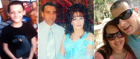 The blast victims, from left: Nasser Sarhan, Riak and Nagah Sarhan, Hanan and Mohammed Bader (Photos: Alarab.net, Panet)