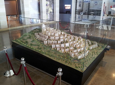 Architectural model shows potential plan for Rawabi