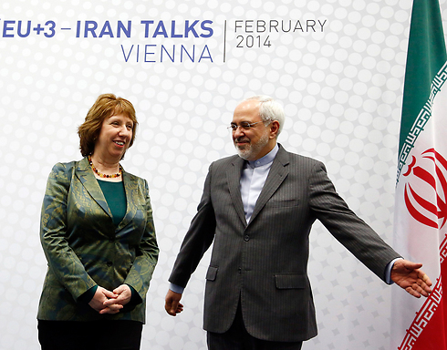 Ashton and Zarif in Vienna for nuke talks (Photo: Reuters) (Photo: Reuters)