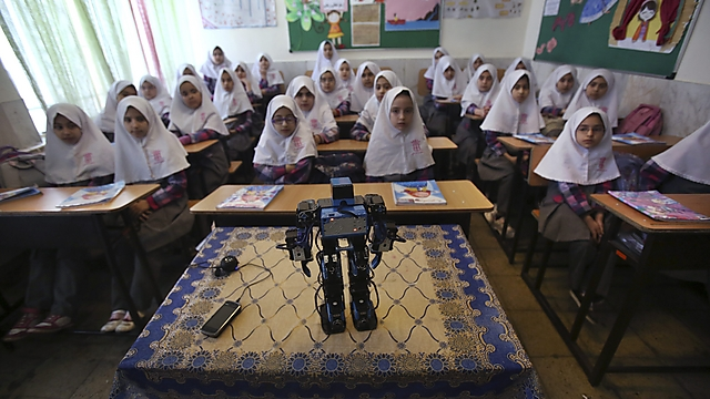 Meet robot Veldan, a Quranic term meaning: Youth of Heaven (Photo: AP)