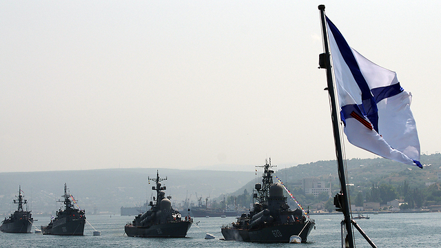 Russian naval vessels in the Black Sea (Photo: AFP)