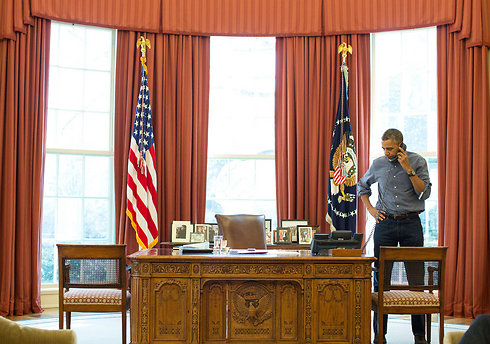 President Obama on a call with Putin (Photo: Reuters)