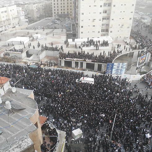 Mass rally in Jerusalem, Sunday (Photo: Eli Mendelbaum) (Photo: Eli Mendelbaum)