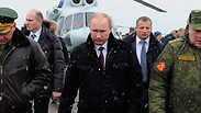 Putin at military drill Photo: AP