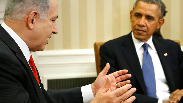 Netanyahu and Obama at the White House (Photo: Reuters)