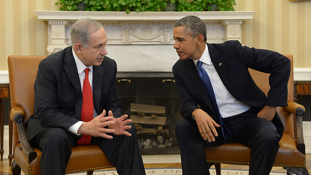 Netanyahu and Obama meet at the White House (Photo: GPO)