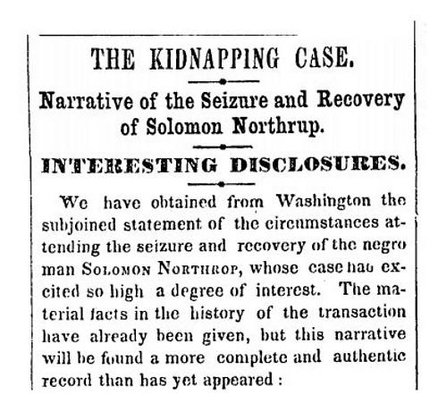 """הכתבה המקורית של """"ניו יורק טיימס"""" ב-1853"""