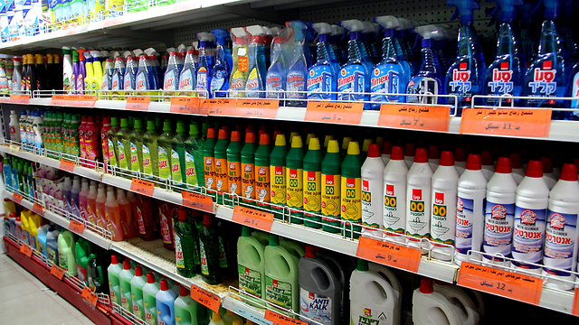 Products from Israel in Gaza (Photo: Gisha Organization)
