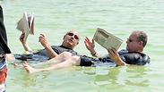 Prime Minister Benjamin Netanyahu promoting Dead Sea tourism
