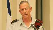 IDF Chief of Staff Benny Gantz during the briefing. Photo: Ido Erez