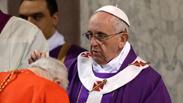 האפיפיור אפיפיור פרנסיסקוס רומא בזיליקה סנטה סבינה איטליה Photo: AP