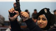 Palestinian women train in Jericho police school Photo: AFP