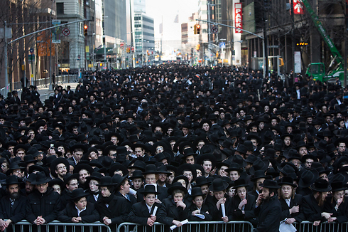 Ultra-Orthodox Jews in Manhattan (Photo: EPA)